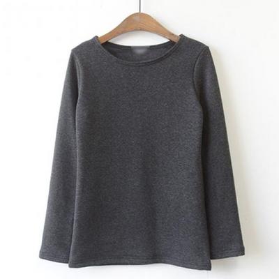 밍크기모 포근 라운드 티셔츠
