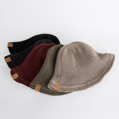울혼방 니트 벙거지 모자