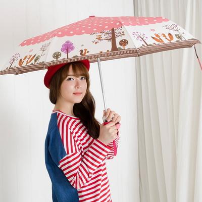 A0952 부엉이 핑크 3단자동우산