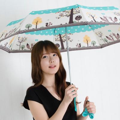 A0951 부엉이 스카이블루 3단자동우산