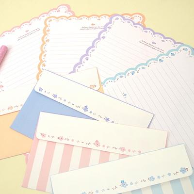 플라워 엣지 편지지(랜덤)