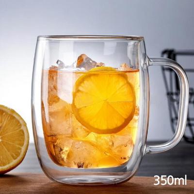내열 이중 유리컵 찻잔 커피잔 350ml 450ml