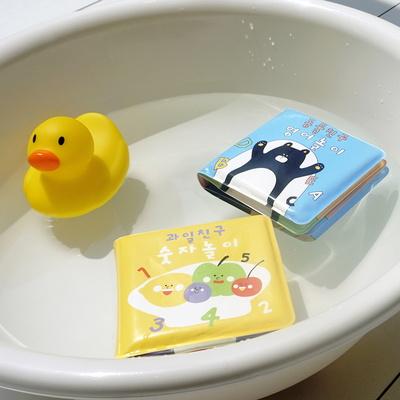 소소모소 소리나는 목욕놀이 책 2종 (숫자, 알파벳)