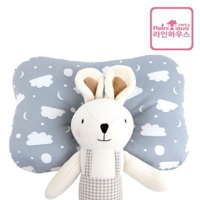 라인하우스 3D에어메쉬 방울솜 아기짱구베개 출산선물