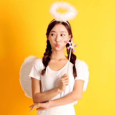 천사날개 머리띠 천사봉 세트 (소형)