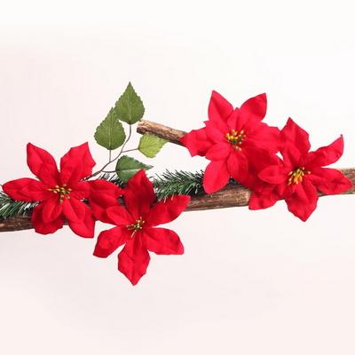 포인꽃 장식 (12cm) 포인세티아