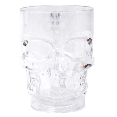 해골 비어머그컵 (투명)