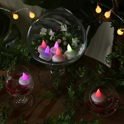 LED 티라이트 12개입 (물에뜨는 촛불)-칼라