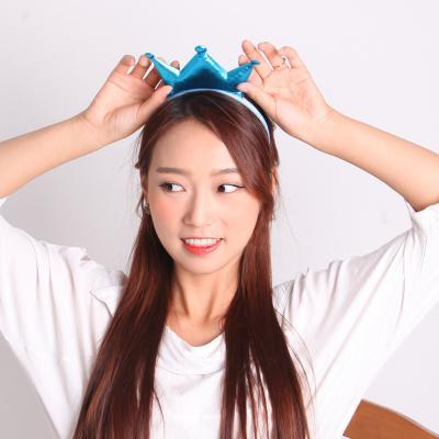 깜찍이 왕관머리띠 (블루)
