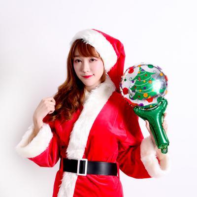 크리스마스 손잡이 은박풍선 (트리)