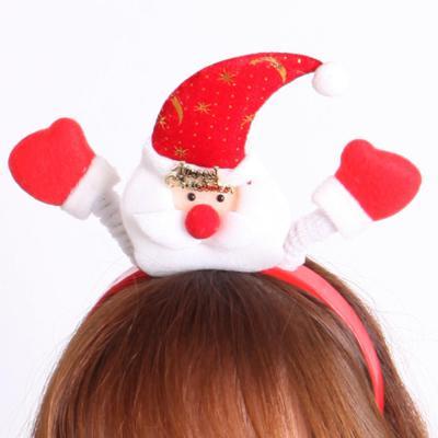 점등 머리띠 [산타]