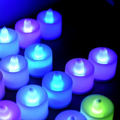 LED 티라이트캔들 24개입(칼라체인지)