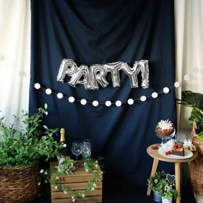 파티 원형 가랜드 (실버써클)