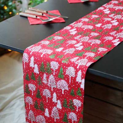 크리스마스 테이블 러너 (자작나무) 레드