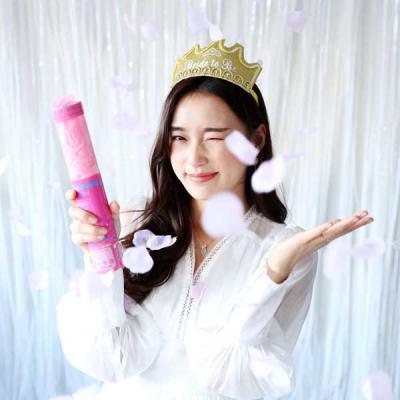 파티 플라워폭죽 (30CM) 핑크