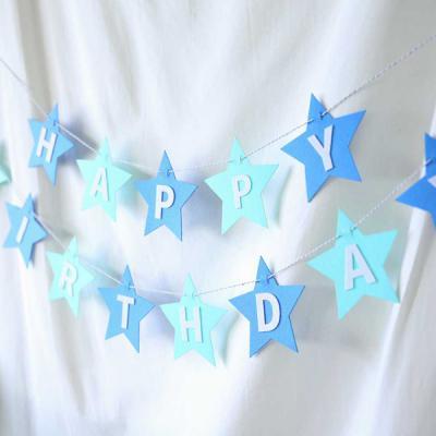 펠트 스타 생일가랜드 (블루)