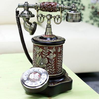 골드 에나멜 원통 전화기