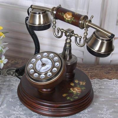 엔틱 로즈 쟁반 전화기
