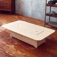 다니우드 자작나무 좌식 수납 테이블(특대)