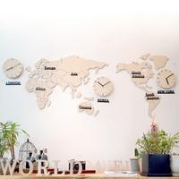 자작나무 세계지도 시계 (소_중형)