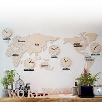 자작나무 세계지도 시계(대_특대형)