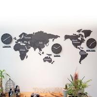 에코보드 세계지도 시계(소_중형)