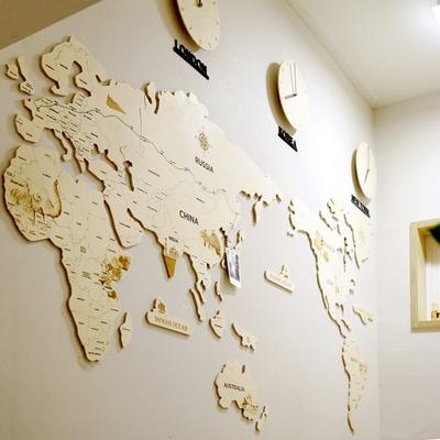 실크로드 세계지도 벽시계(대)