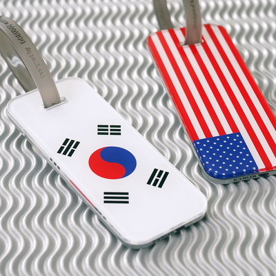 세계 국기 네임텍 M (커스텀형)