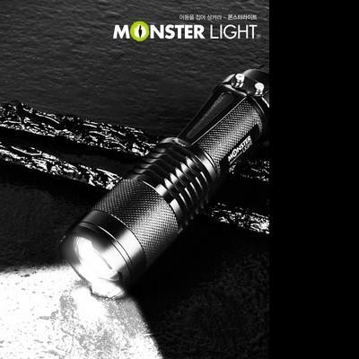 몬스터라이트 LED 후레쉬 ML2200PK 몬스터 자전거라이트