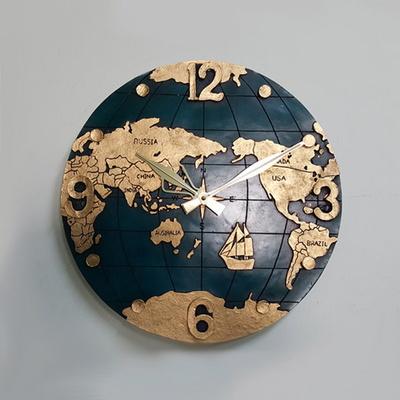 인테리어 벽시계 지구본500 세계지도 무소음