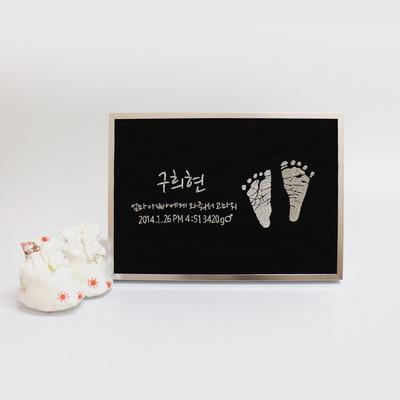 주문제작 자수 발도장액자 아기발도장 출산기념선물