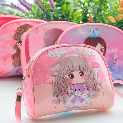 513 큐티걸 반달 크로스백/아동가방/소풍가방