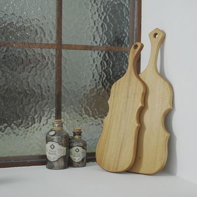 소울 마호가니 데코 플레이팅 보드 - 바이올린