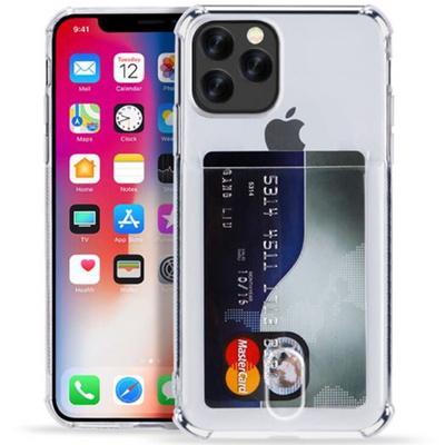 아이폰 7 8 SE2 카드 수납 케이스 투명 젤리