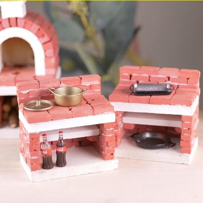 DIY 미니어처 미니벽돌 오리지널 피자화덕 만들기