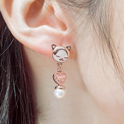 키씨스타 뭉클 고양이와 진주 귀걸이