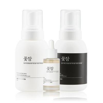 꽃잠 네이처 여성 청결제+에센스+남성 청결제 3종세트
