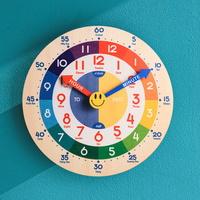 오리엔트 OWC OT876KID-ENG 무소음 노글라스 레인보우 영어 시간배우기 교육용벽시계
