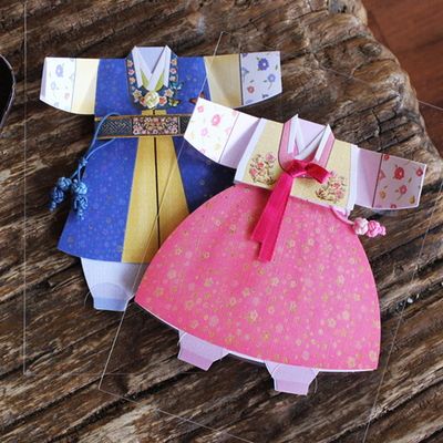 분홍꽃자수 여자 아동한복 (035-SH-0013)