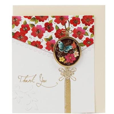 꽃 조각보 땡큐 미니카드 (010-SG-0099)