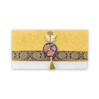 노랑 금빛 자수 축하봉투(035-ME-0051)