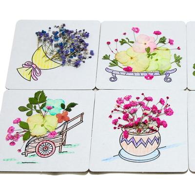 꽃보듬(압화) 컵받침대 만들기 KIT