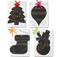 스크래치 크리스마스 카드(5인용)