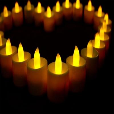 LED 티라이트 캔들 (24개입/ 촛불색)