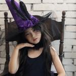 장미 마녀 모자 (퍼플)