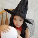 장미 마녀 모자 (블랙)