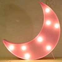 LED 앵두전구 조명등 (달 핑크)