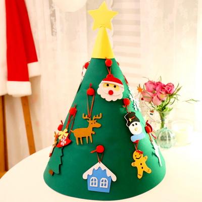 크리스마스 펠트 둥근 별트리 만들기세트