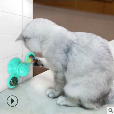 고양이 고양이행동유발 회전트랙장난감 벽부착