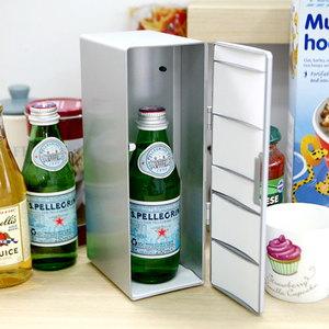 맥주캔 두개가 들어가는 usb 냉장고(온장고겸용)